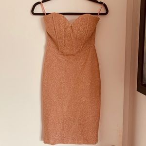 Wow couture rose gold dress sz M